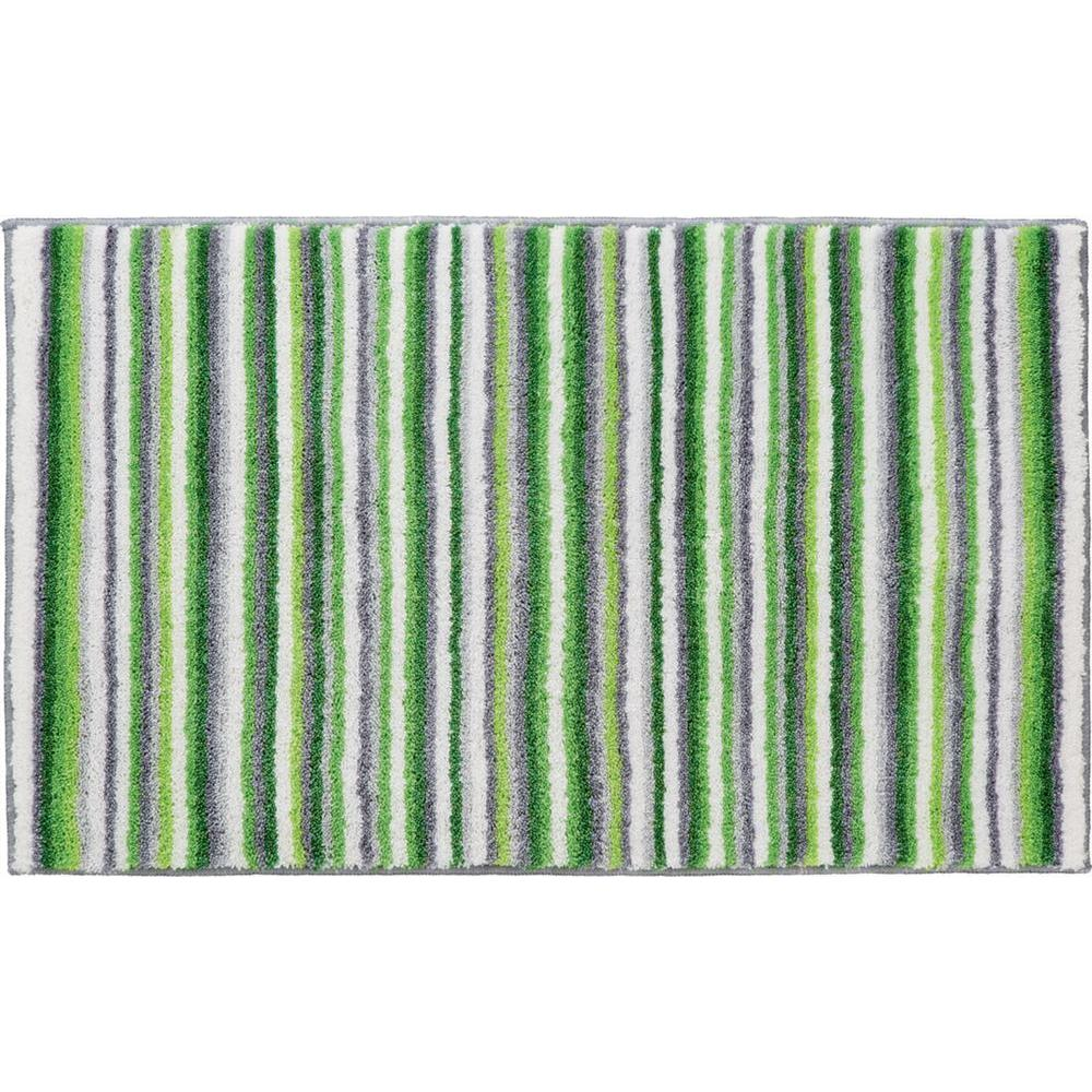 Grund Stripes Series Green 24 in. x 60 in. Premium Comfort Mat