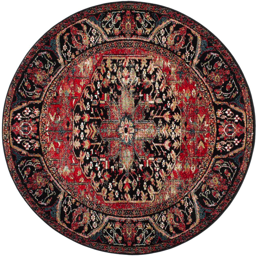 Safavieh Vintage Hamadan Red Multi 7 Ft X Round Area Rug