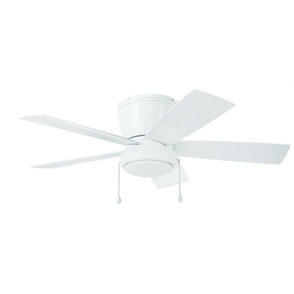 HomeDecoratorsCollection Home Decorators Collection Arleigh 44 in. LED Outdoor White Ceiling Fan with Light