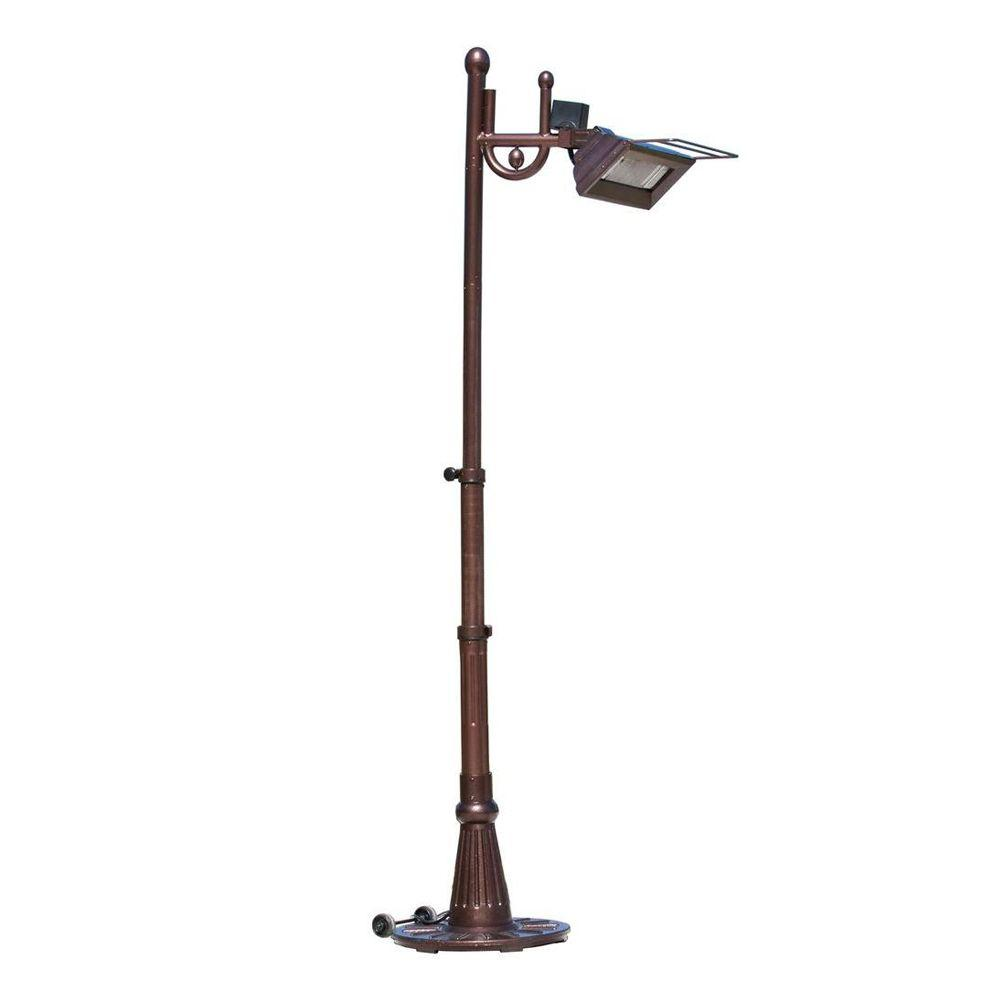Fire Sense Hammer Tone 1,500-Watt Steel Tradition-Design Pole-Mounted Infrared Patio Heater-DISCONTINUED