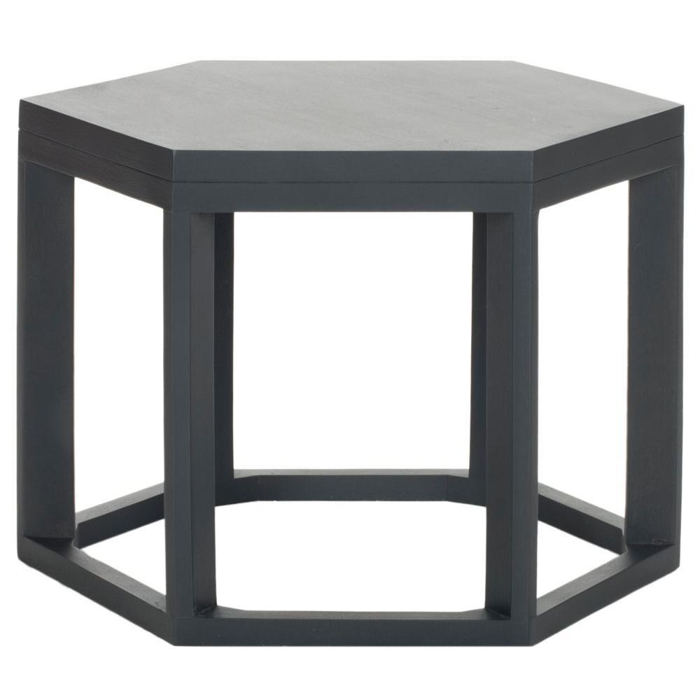Heidi Charcoal Gray End Table