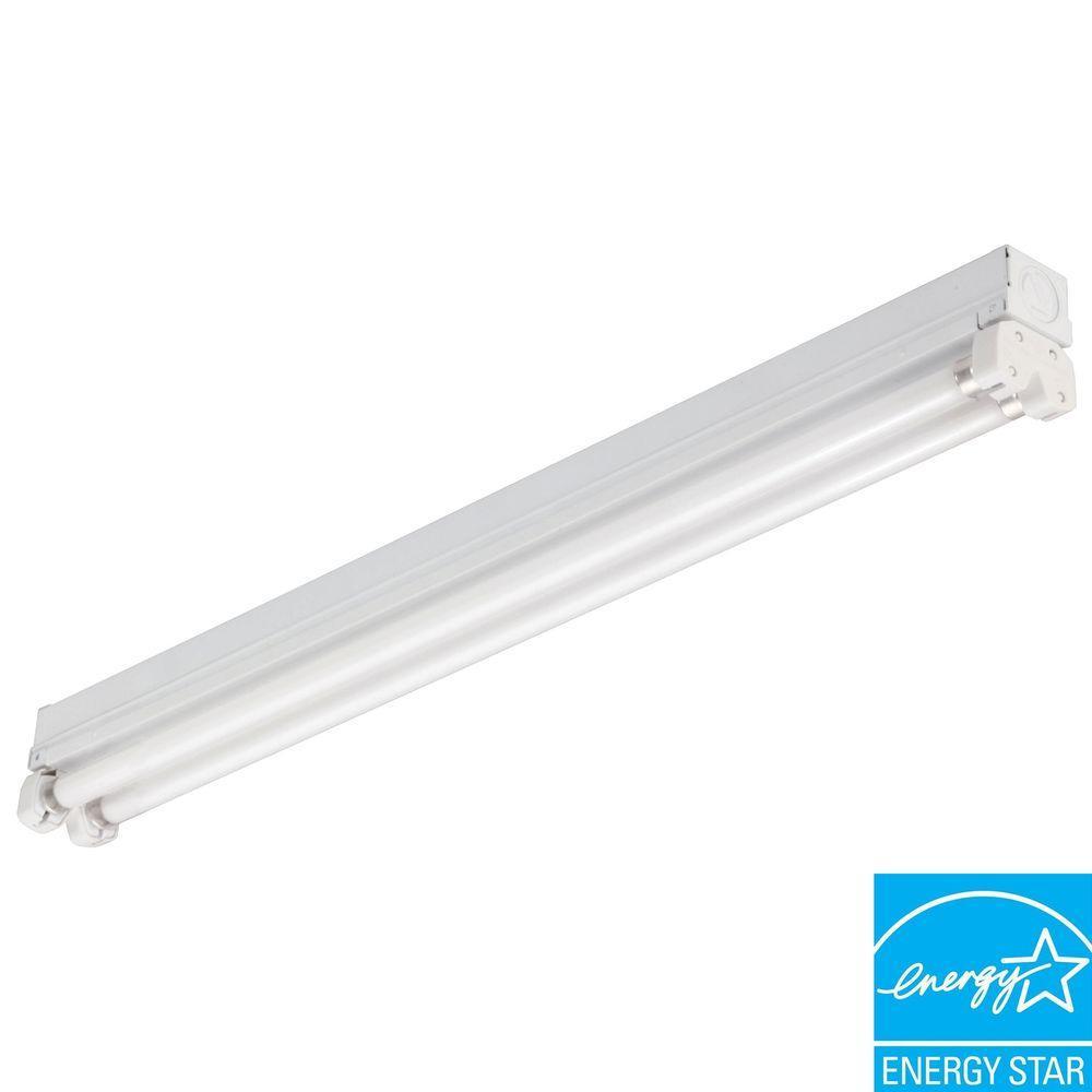 Lithonia Lighting MNS5 2 14 LP Mini Strip 2-Light White Fluorescent Utility Light