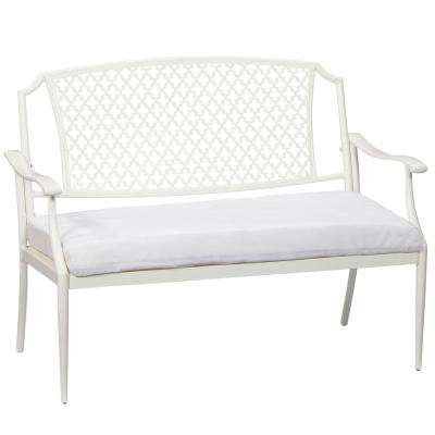 Alveranda Custom Metal Outdoor Bench with Cushions Included, Choose Your Own Color