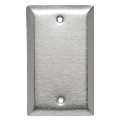 302 Series 1-Gang Blank Wall Plate in Stainless Steel