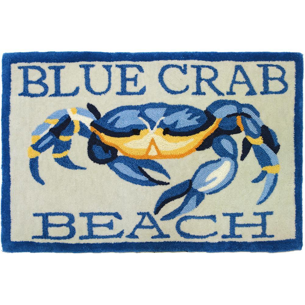 Blue Crab Beach Multi 2 Ft X 3 Area Rug