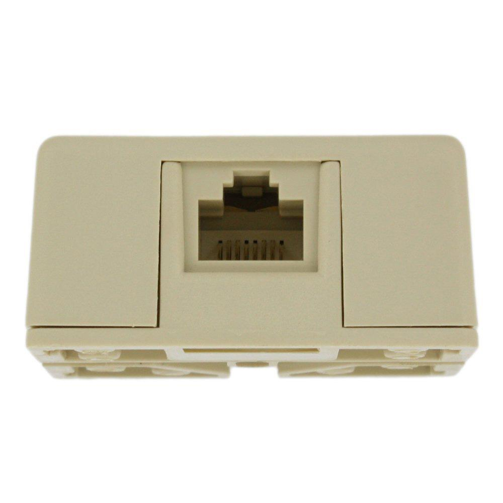 Leviton 8P8C RJ31X Surface Mount Jack with Shorting Bar, Ivory