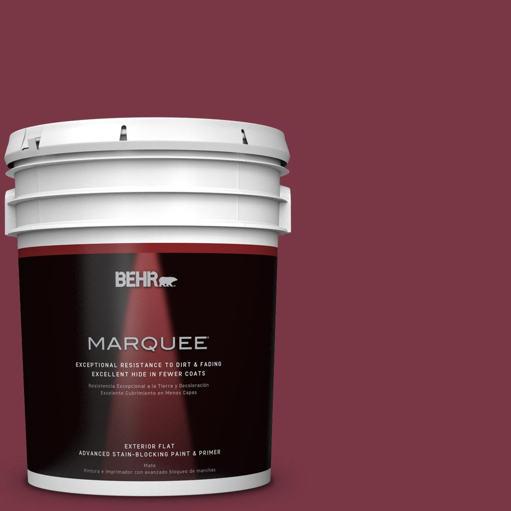 BEHR MARQUEE 5-gal. #S-H-110 Wine Tasting Flat Exterior Paint, Reds/Pinks