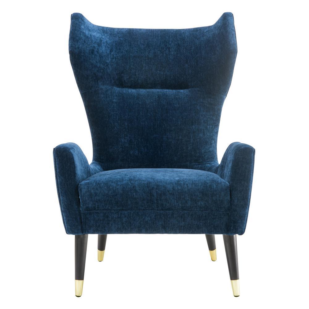Logan Navy Velvet Chair