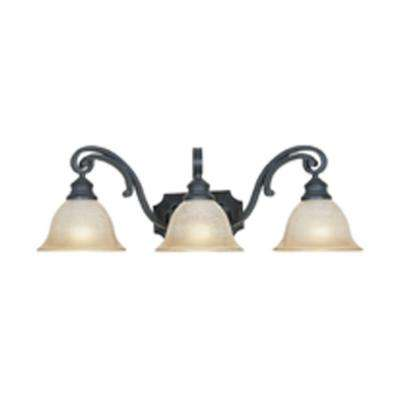 Monte Carlo 3-Light Natural Iron Wall Light