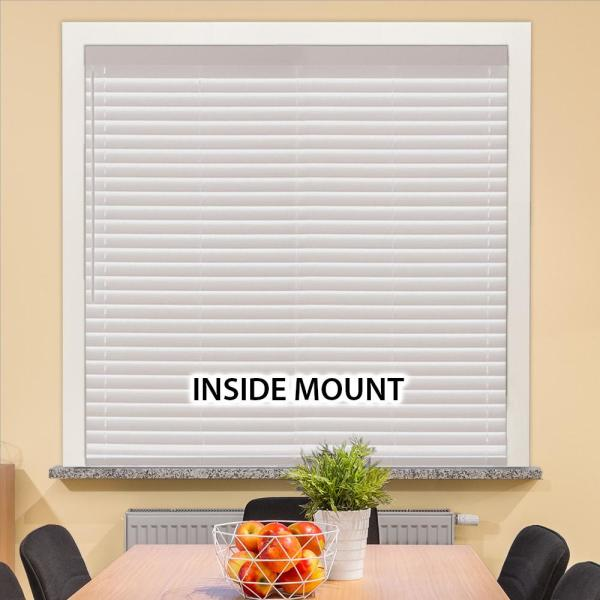 Home Decorators Collection White Cordless 2 In Faux Wood Blind 35 In W X 64 In L Actual Size 34 5 In W X 64 In L 10793478184453 The Home Depot