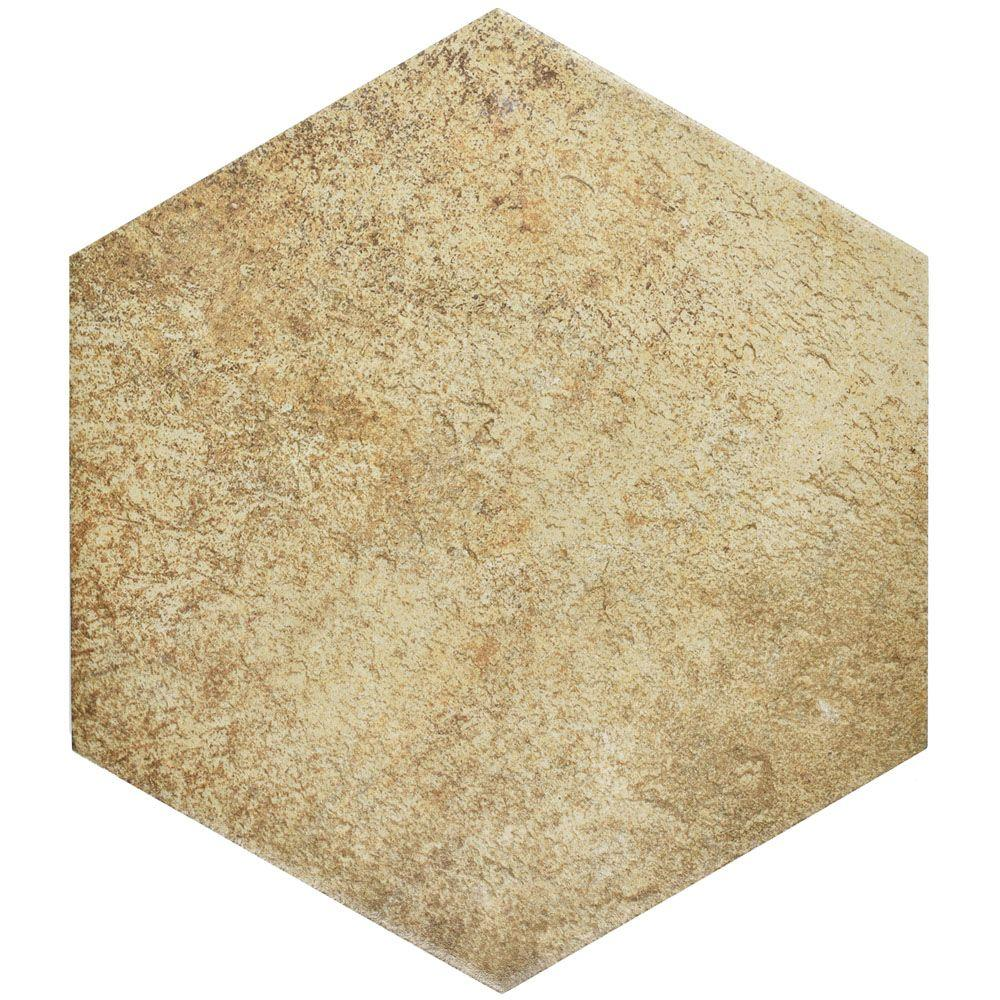 Merola Tile Abadia Hex Natural 8-5/8 in. x 9-7/8 in. Porcelain Floor and Wall Tile (11.19 sq. ft. / case)