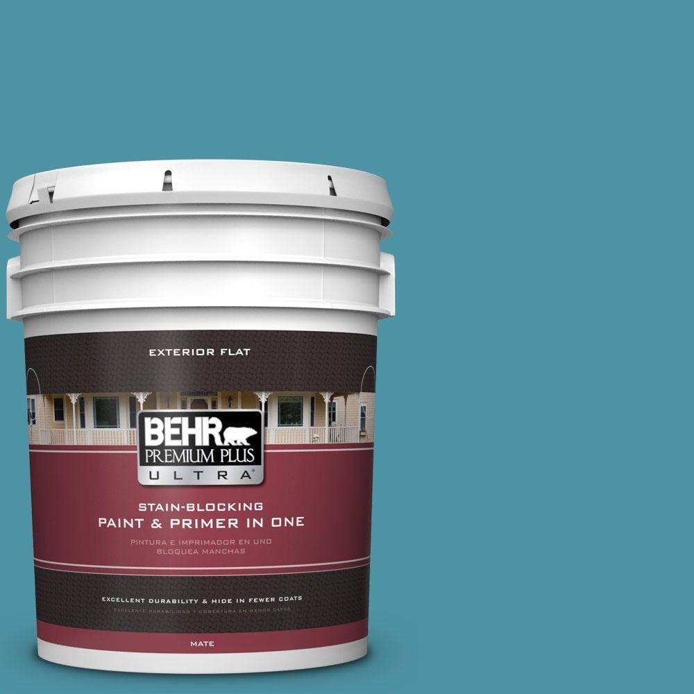 5-gal. #530D-6 Teal Bayou Flat Exterior Paint