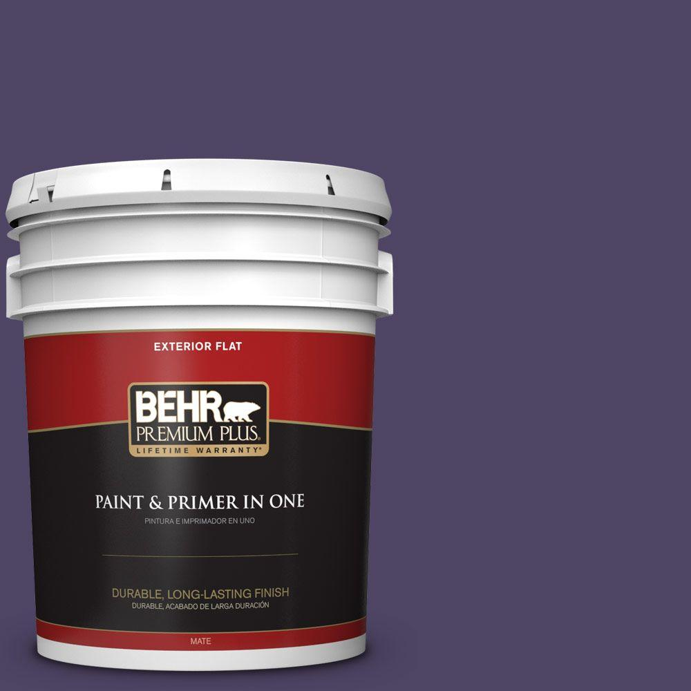 5-gal. #S-H-650 Berry Charm Flat Exterior Paint