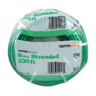 100 ft. 8-Gauge Green Stranded THHN Wire