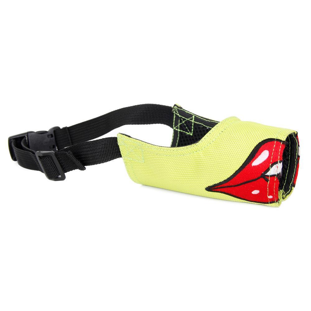 Medium Green Fumigation Adjustable Designer Dog Muzzle