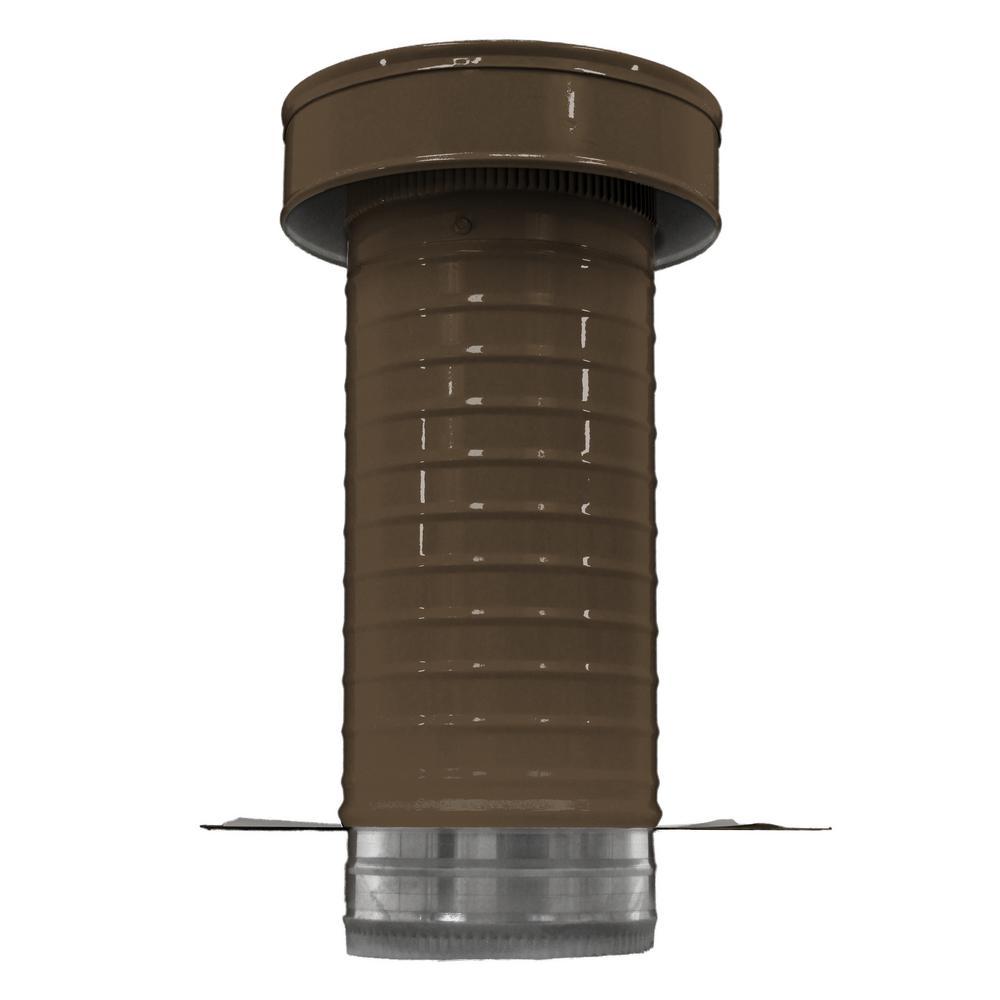 6 in. Dia. Aluminum Keepa Roof Jack in Brown