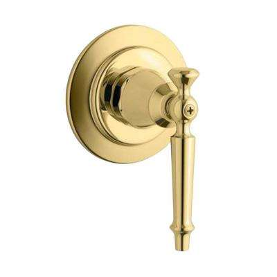Antique 1-Handle Transfer Valve Trim Kit in Vibrant Polished Brass (Valve Not Included)