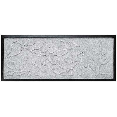 White 15 in. x 36 in. Brittany Leaf Boot Tray