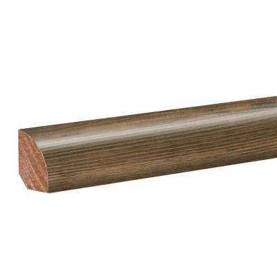 Weathered Grey Wood 0.62 in. Thick x 0.75 in. Wide x 94.5 in. Length Laminate Quarter Round Molding