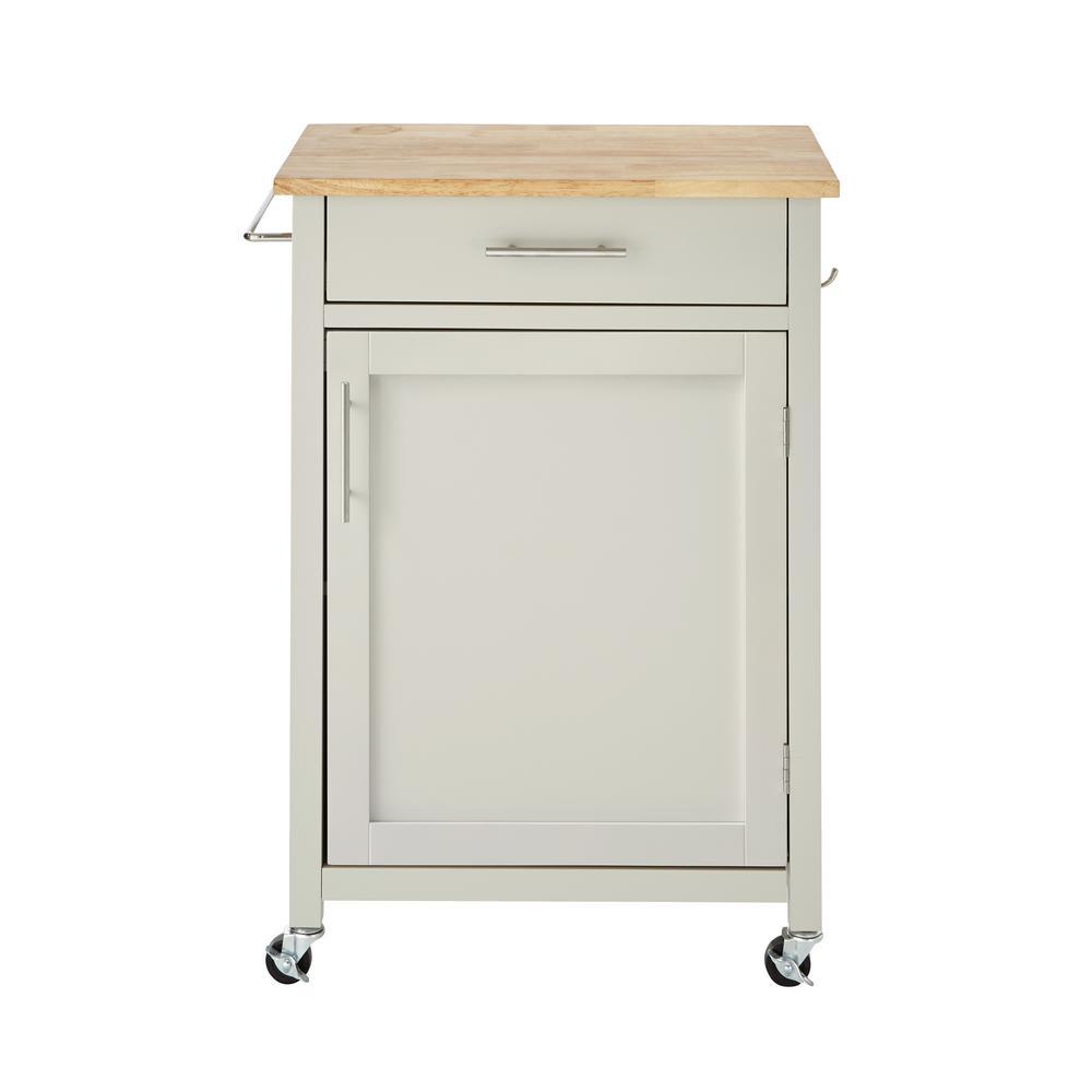 Glenville Grey Single Kitchen Cart