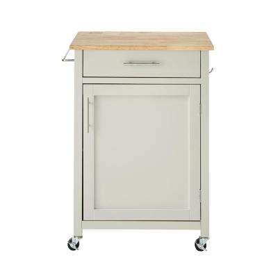Glenville Grey Single Kitchen Cart