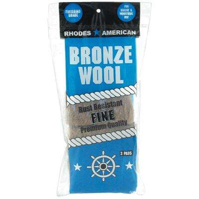 Fine Bronze Wool Pads (3-Pack)