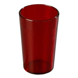 Carlisle 5 oz. SAN Plastic Stackable Tumbler in Ruby (Case of 72) by Carlisle