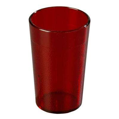 5 oz. SAN Plastic Stackable Tumbler in Ruby (Case of 72)