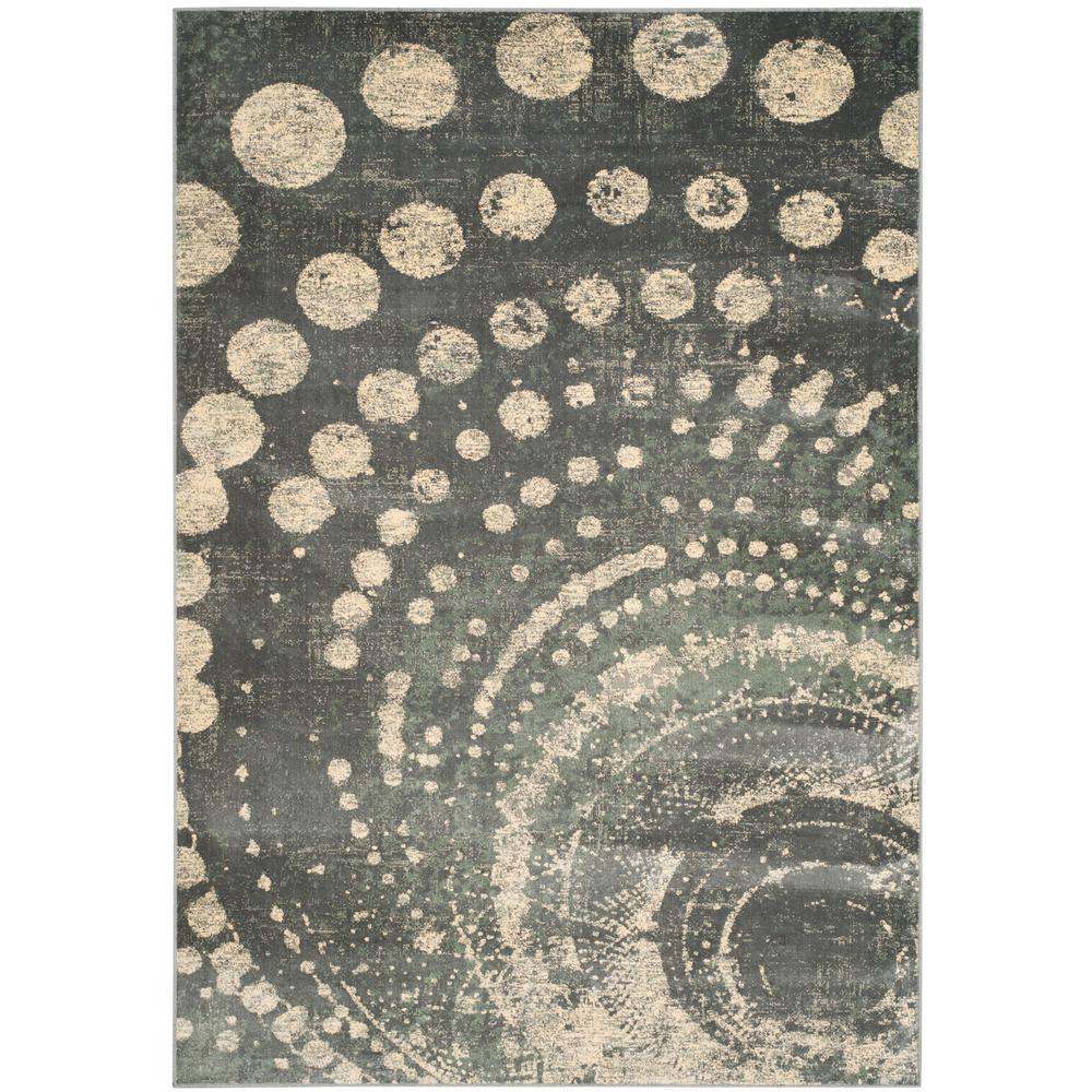 Constellation Vintage Light Gray/Multi 7 ft. x 9 ft. Area Rug