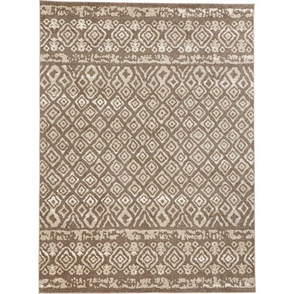 Home Decorators Collection Tribal Essence Dark Beige 8 Ft X 10 Area Rug