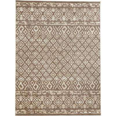 Tribal Essence Dark Beige 8 ft. x 10 ft. Area Rug