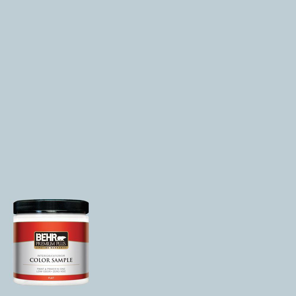 BEHR Premium Plus 8 oz. #540E-2 Cloudy Day Interior/Exterior Paint Sample