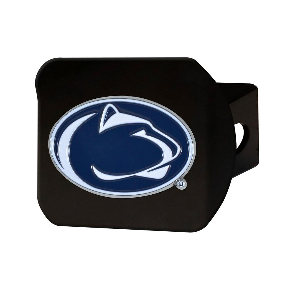 NCAA Penn State Color Emblem on Black Hitch Cover