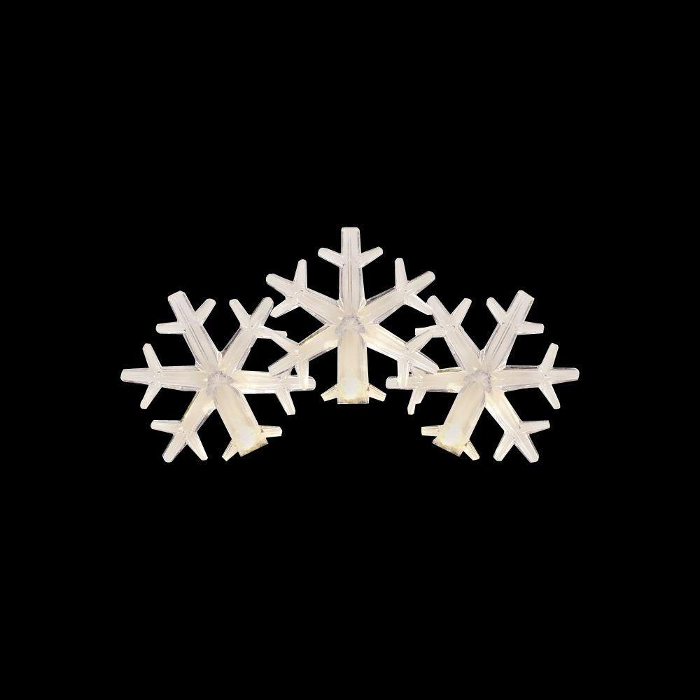 15-Light LED White to Blue Color-Changing Snowflake Light Set