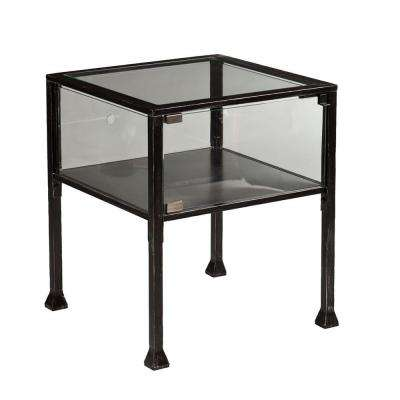 Black Terrarium End Table