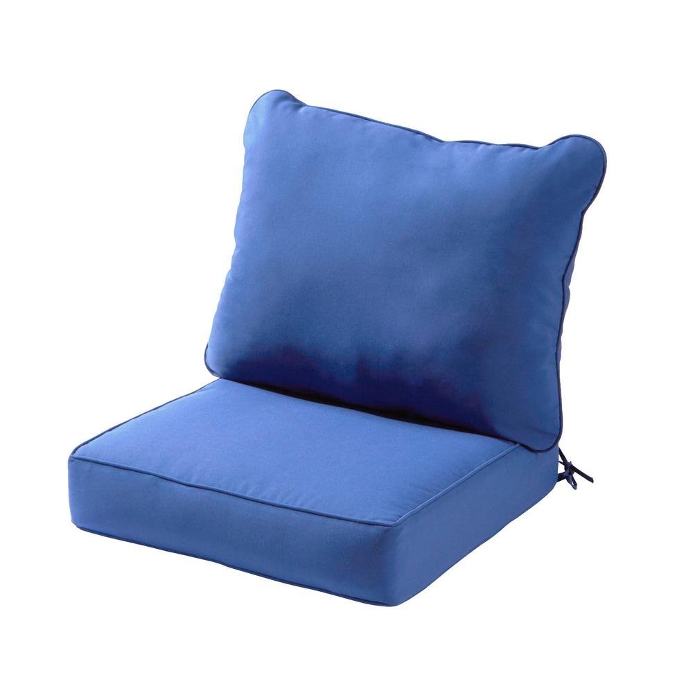 Solid Marine 2-Piece Deep Seating Outdoor Lounge Chair Cushion Set