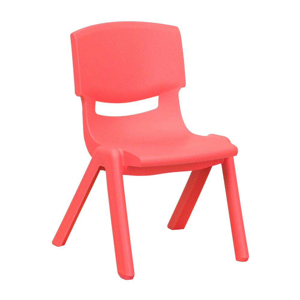 Flash Furniture Red Plastic Stackable School Chair With 10.5 In. Seat Height