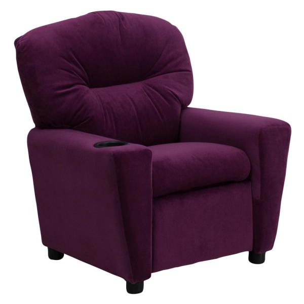 Carnegy Avenue Purple Microfiber Recliner CGA-BT-4936-PU-HD