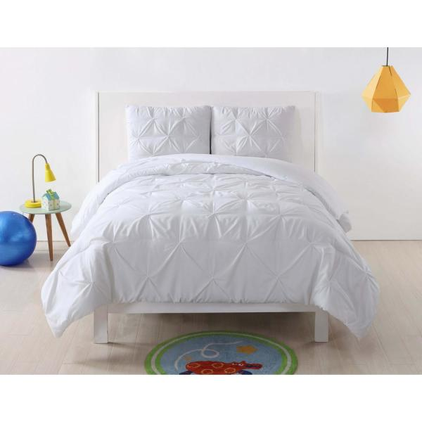 Anytime 3-Piece White Full/Queen Comforter Set