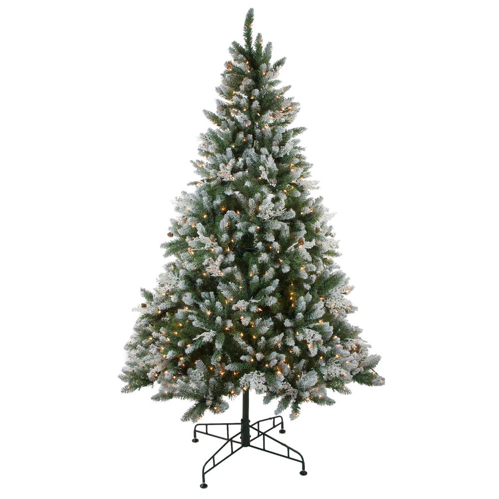 Northlight 78 in. Pre-Lit Frosted Sierra Fir Artificial Christmas Tree with Clear Lights