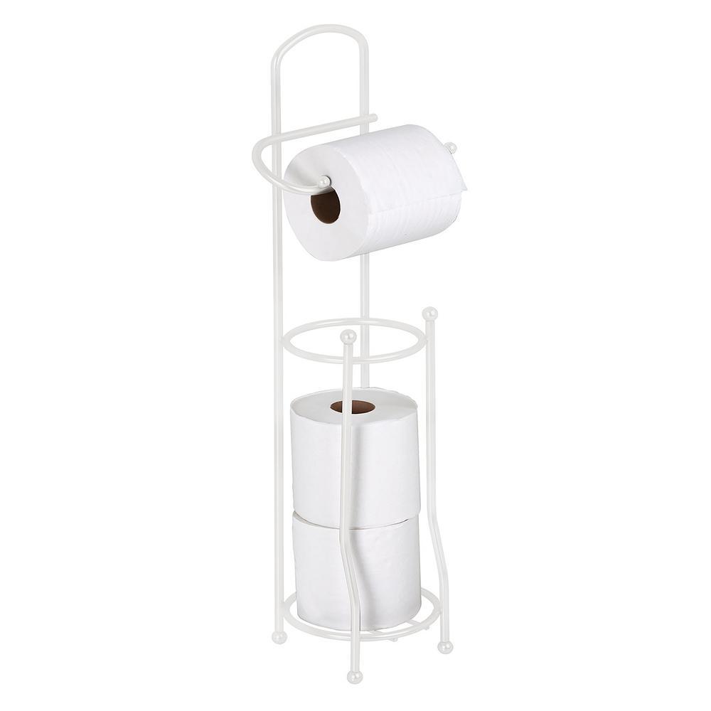 Bath Bliss Toilet Paper Holder and Dispenser in White