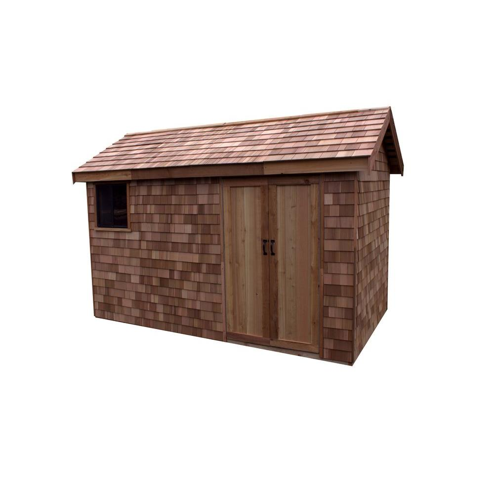 Greenstone 8 ft. x 12 ft. EZ-Build Shed Kit with Prefab Panels