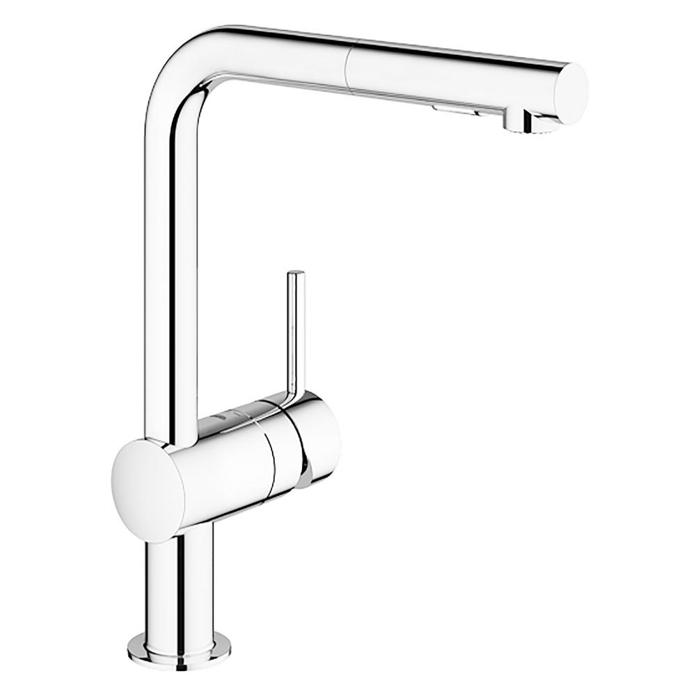 GROHE Minta Single-Handle Pull-Out Sprayer Kitchen Faucet