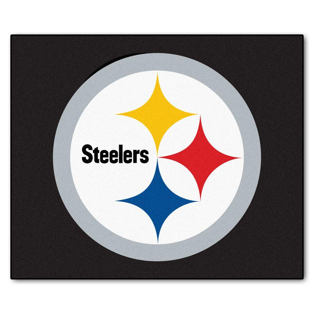 FANMATS Pittsburgh Steelers 5 ft. x 6 ft. Tailgater Rug