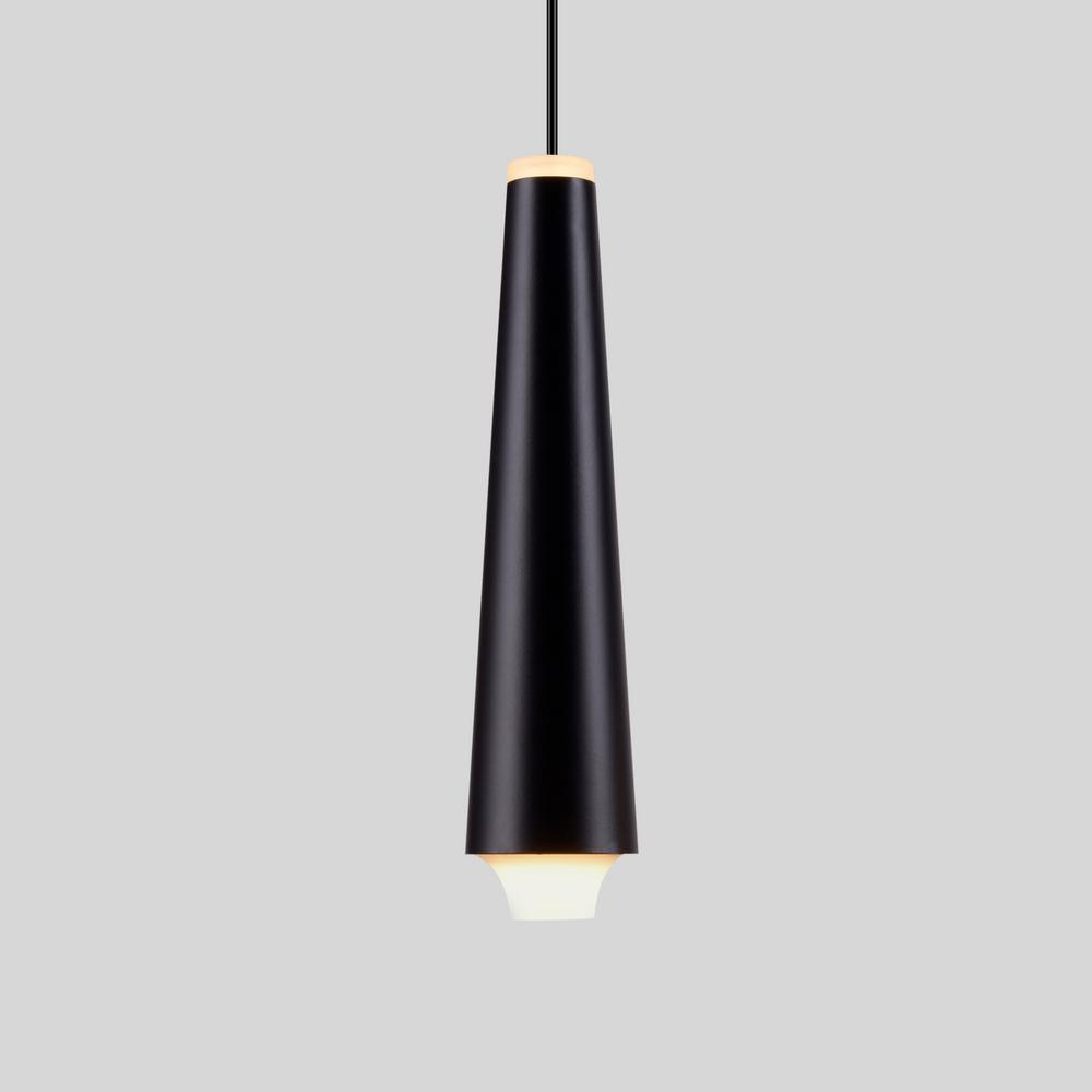 Vonn Lighting Expression 5 Watt Black Integrated Led Single Pendant Fixture