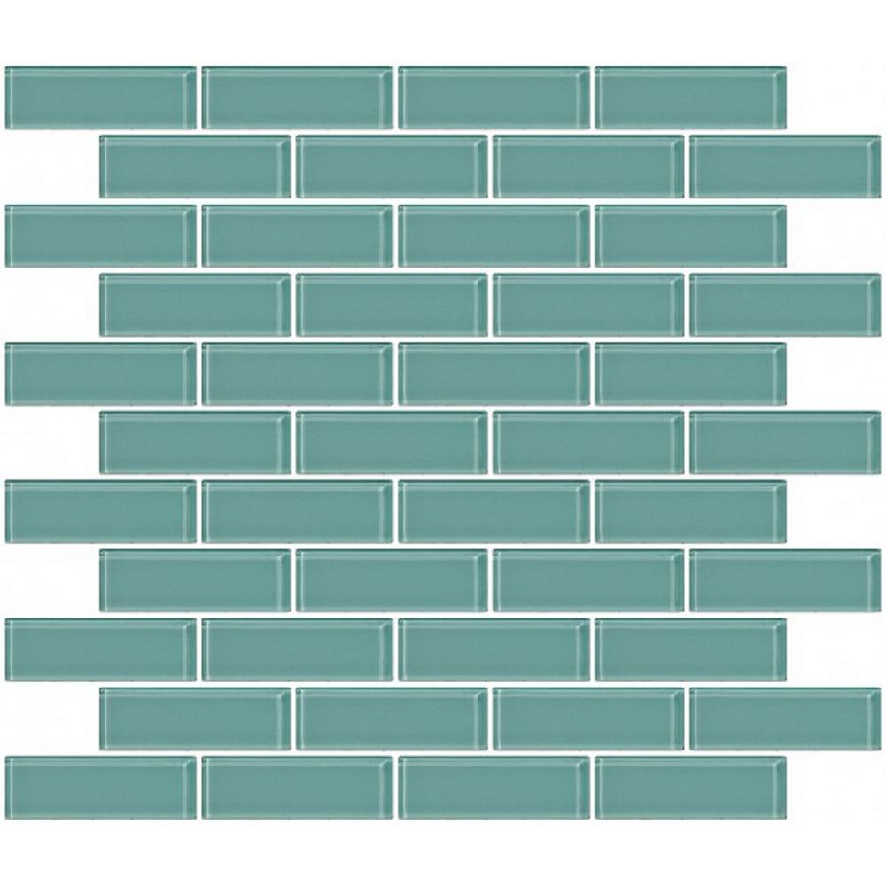 LTL Home Products 12 in. x 12 in. x 4 mm Tile Esque Light Aqua Blue ...