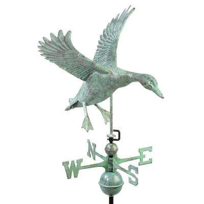 Landing Duck Weathervane - Blue Verde Copper