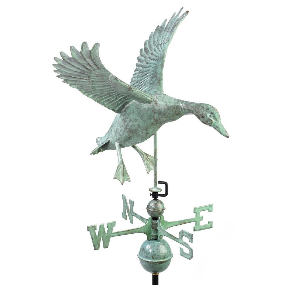 Landing Duck Weathervane - Blue Verde Copper
