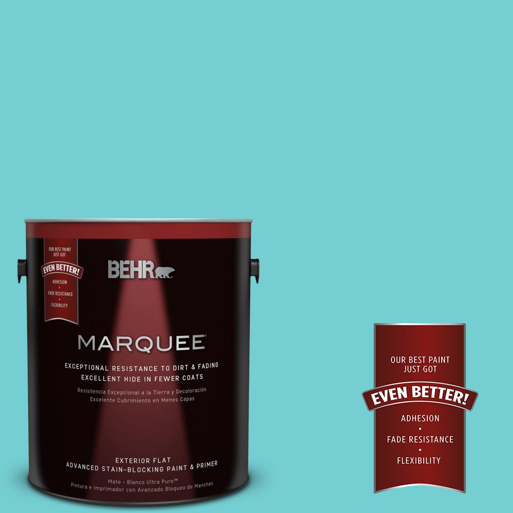 1-gal. #P460-3 Soft Turquoise Flat Exterior Paint