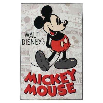 Mickey Classic Red 5 ft. x 7 ft. Indoor Juvenile Area Rug